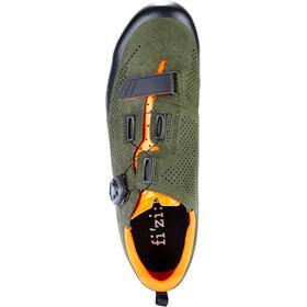 Fizik Terra X5 Suede Obuwie MTB, military green/orange fluo